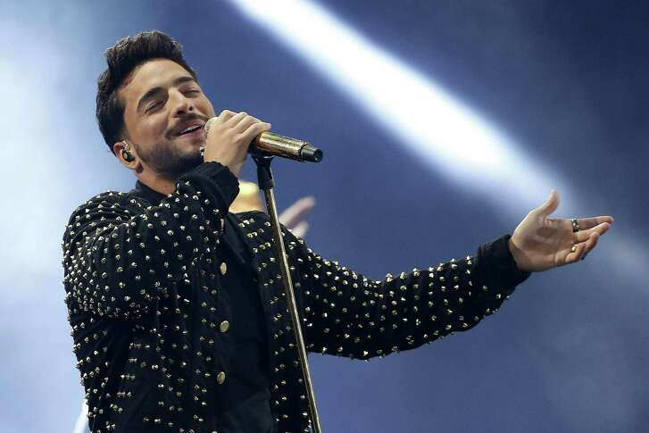 Colombia's singer Maluma performs at the 58th Vina del Mar International Song Festival on February 24, 2017 in Vina del Mar, Chile. / AFP PHOTO / PAUL PLAZAPAUL PLAZA/AFP/Getty Images