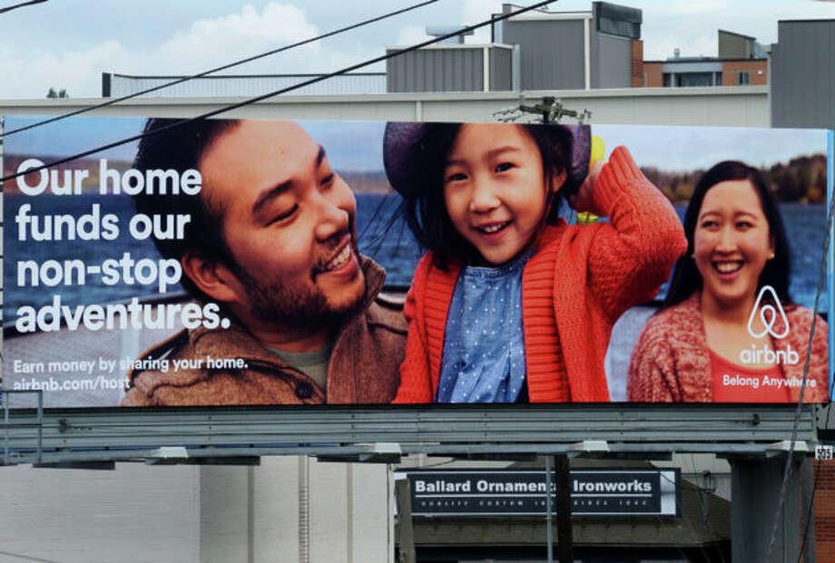 An Airbnb billboard in Seattle. (GeekWire Photo). Photo: GeekWire