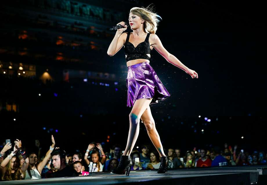 Taylor Swift performs at Levi's Stadium during the first of two shows on a  World Tour stop in August 2015. Photo: Loren Elliott, The Chronicle