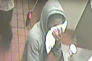 Houston police are searching for two armed robbers who burst into a Burger King restaurant near the Medical Center on Sunday, Oct. 29 at about 9:14 p.m.