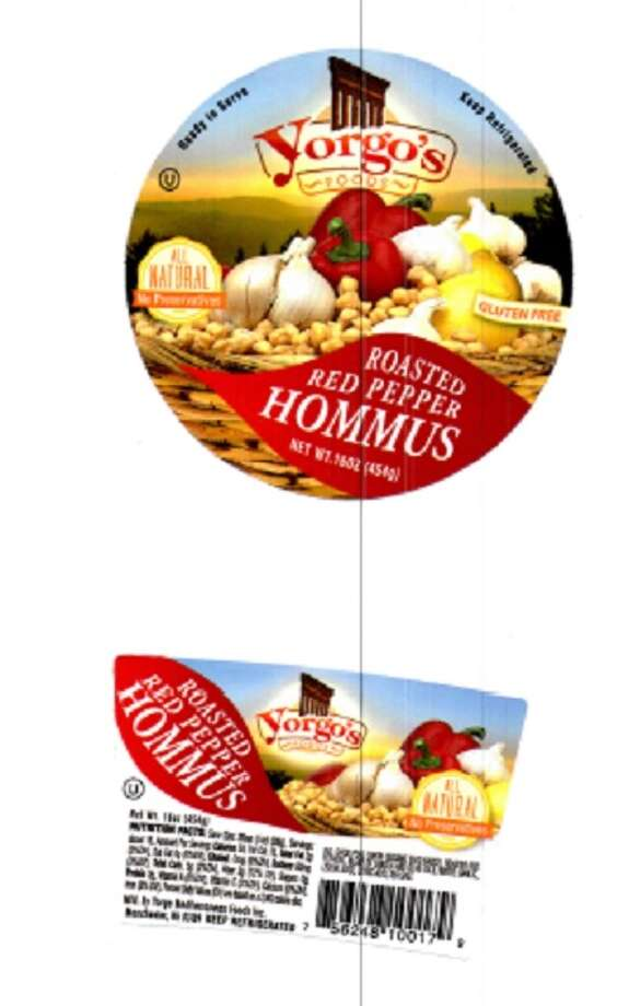 Several types of Hommus and Baba Ghannouj produced by Yorgo's FOODS, Inc., have been recalled from retail stores in New York and New Jersey under the suspicion that the products are contaminated with Listeria monocytogenes, the U.S. Food and Drug Administration reports. Photo: FDA