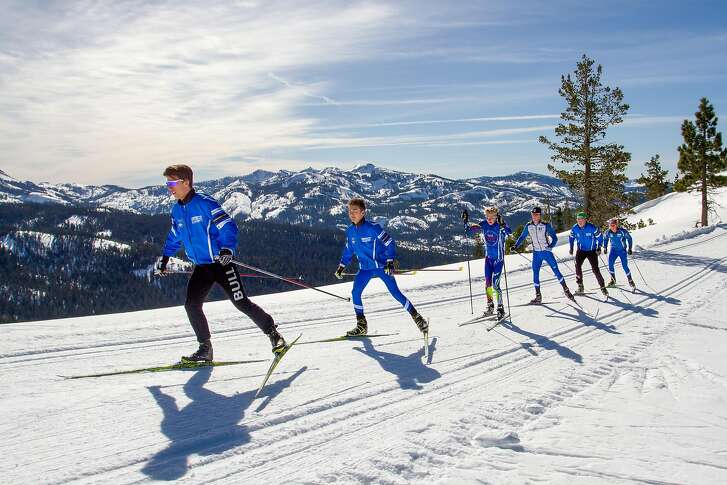 Cross-country skiing on Royal Gorge