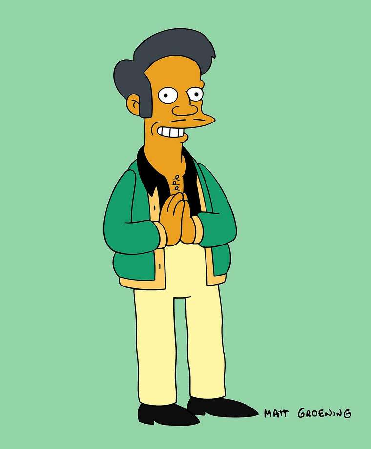 "This image released by Fox shows the Apu from the animated series ""The Simpsons."" The character is the subject of a documentary called ""The Problem With Apu,"" airing on truTV on Nov. 19. (Fox via AP) Photo: Associated Press"