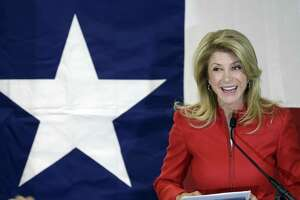 In this March 4, 2014, file photo, Texas Sen. Wendy Davis, D-Fort Worth, speaks to supporters at her campaign headquarters, in Fort Worth. Tuesday, she told the Express-News she definitely won't be running for governor in 2018.