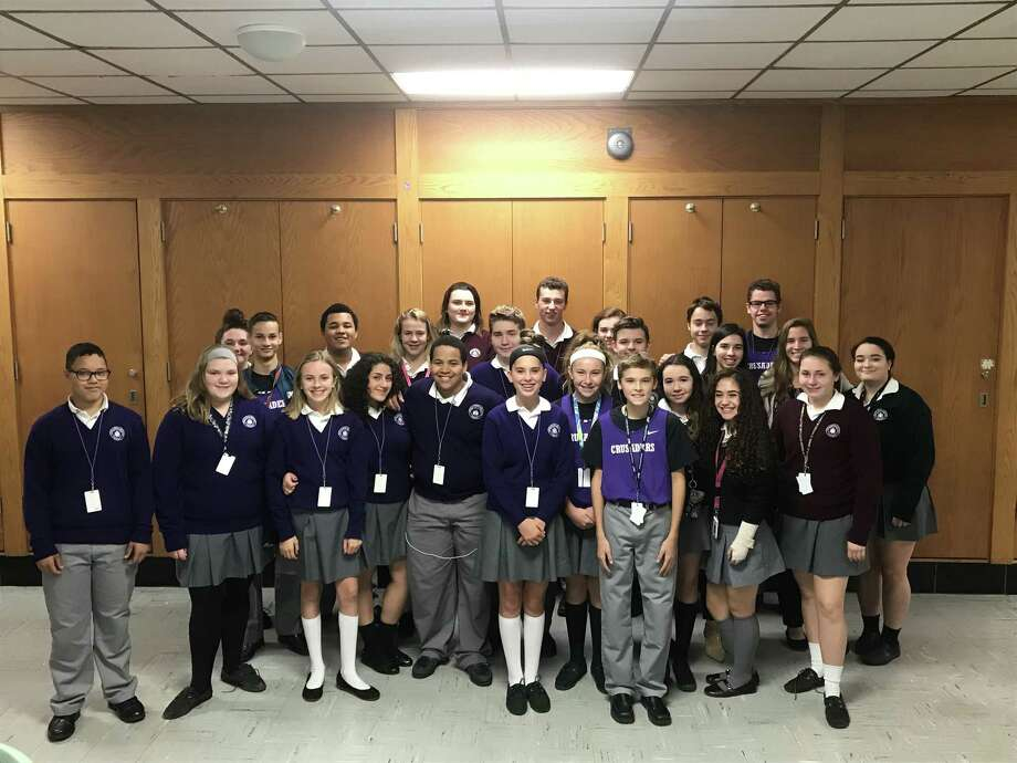 The Social Media Club at Catholic Central High School in Troy.