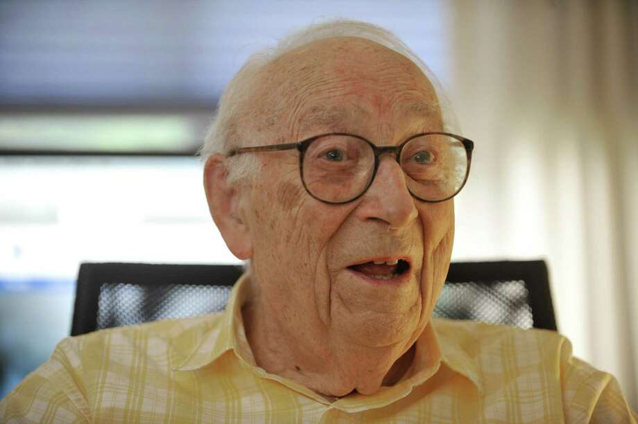 95-year-old, Heinrich Medicus talks about his life during an interview at his apartment on Thursday, Aug. 21, 2014, in Troy, N.Y.  (Paul Buckowski / Times Union) ORG XMIT: MER2014082115244750 Photo: Paul Buckowski / 00028279A