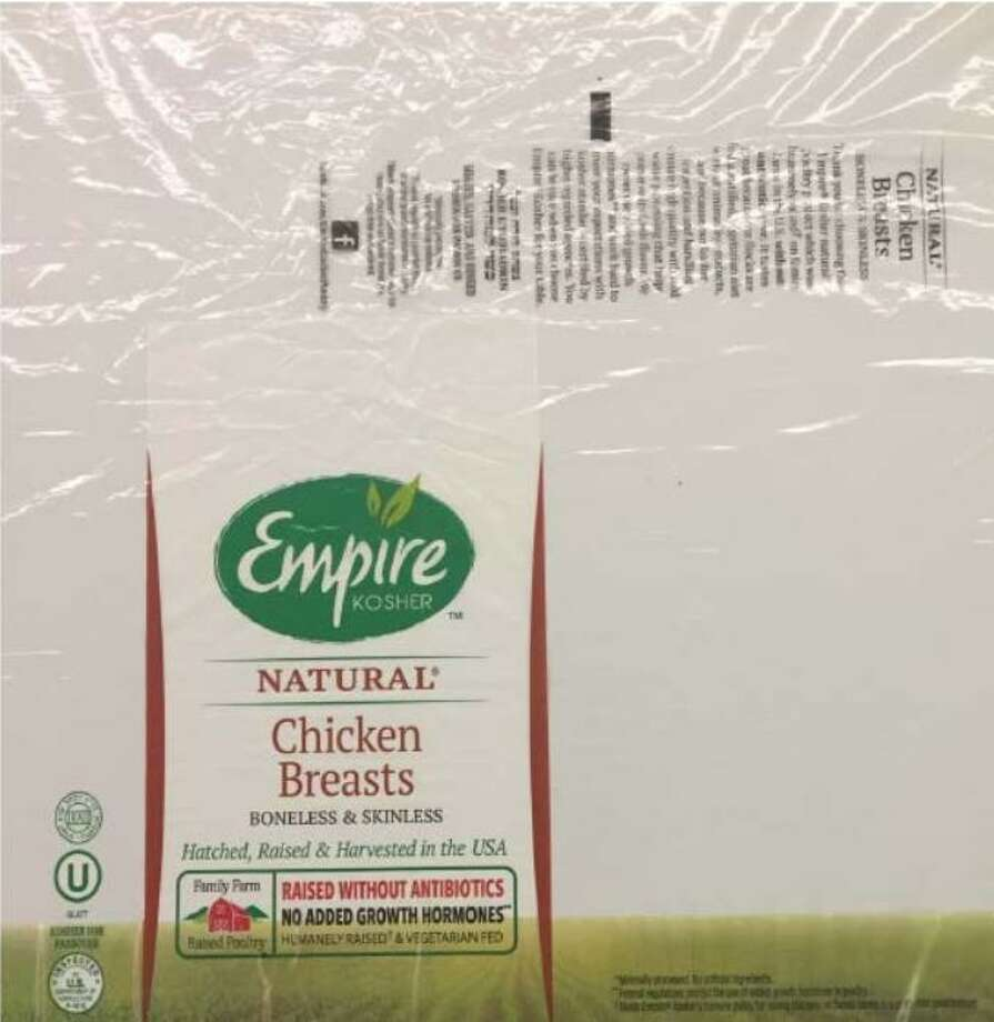 Empire Kosher Poultry, Inc., in Mifflintown, Pa., is recalling approximately 10,839 pounds of raw poultry products that may be contaminated with metal. Photo courtesy of the U.S. Department of Agriculture. Photo: Contributed / Contributed
