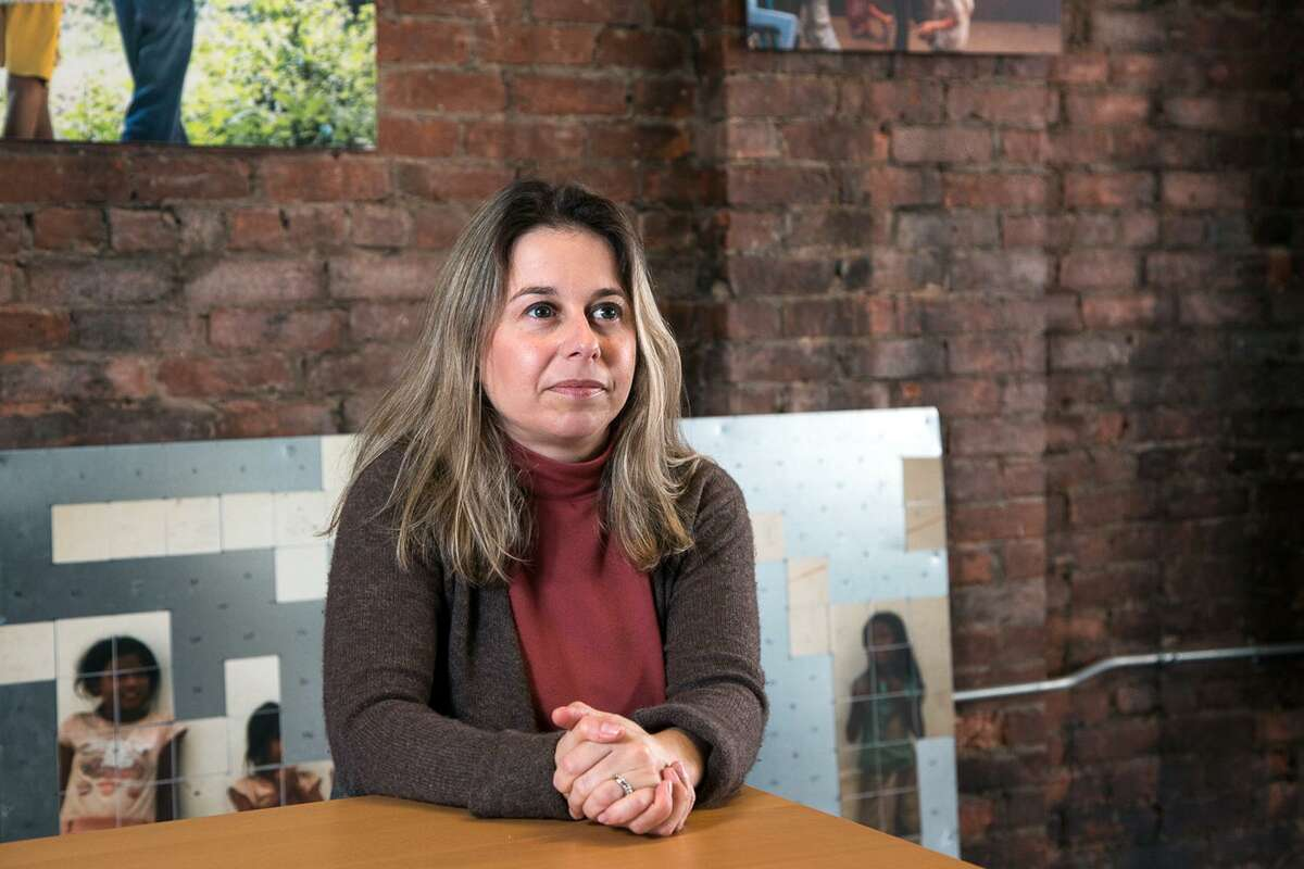 Erin Williamson, survivor support coordinator of Love146, in New Haven. Love146 is an international nonprofit dedicated to ending child sex trafficking.