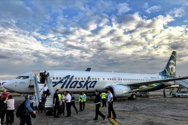 Alaska Airlines inaugural flight to Cuba, Jan 5, 2017