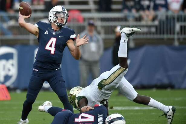 Bryant Shirreffs finishes his college career ranked in the top five of multiple UConn quarterback statistics.
