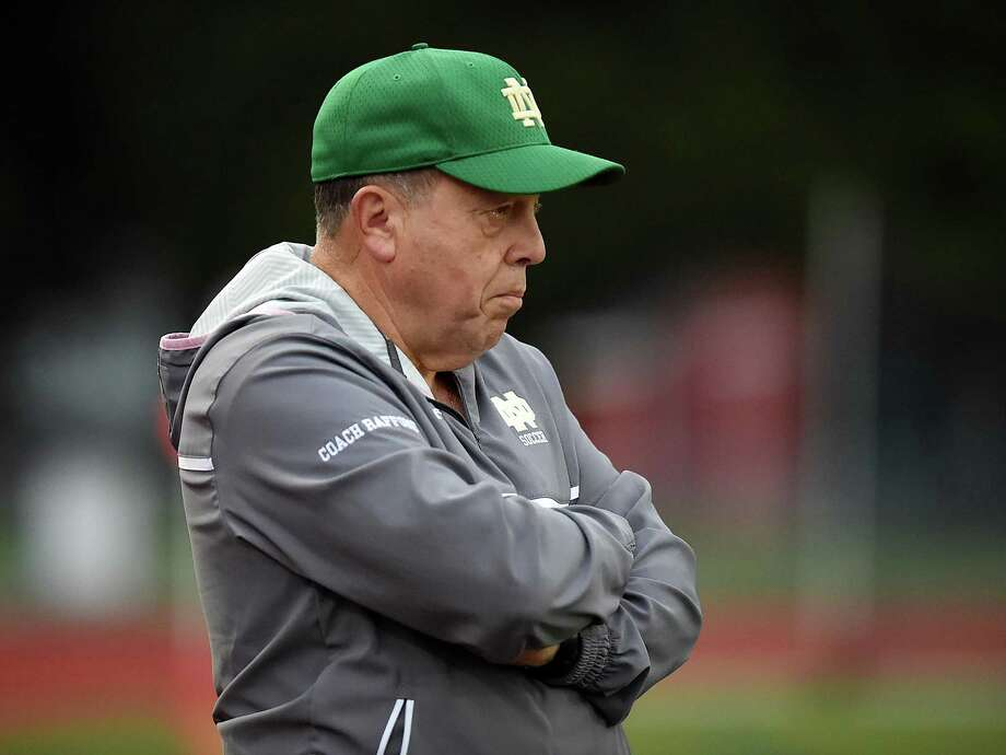 Notre Dame-West Haven head coach Rudy Raffone announced Tuesday that he will retire after 29 seasons. Photo: Catherine Avalone / / New Haven RegisterThe Middletown Press
