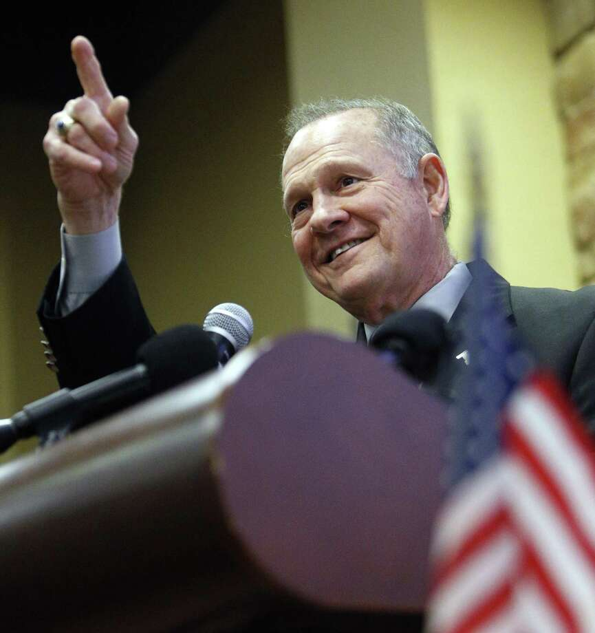 According to a Nov. 9 Washington Post story, former Alabama Chief Justice and U.S. Senate candidate Roy Moore made inappropriate advances and had sexual contact with her when she was 14. Moore is denying the allegations. Photo: Hal Yeager /Associated Press / AP