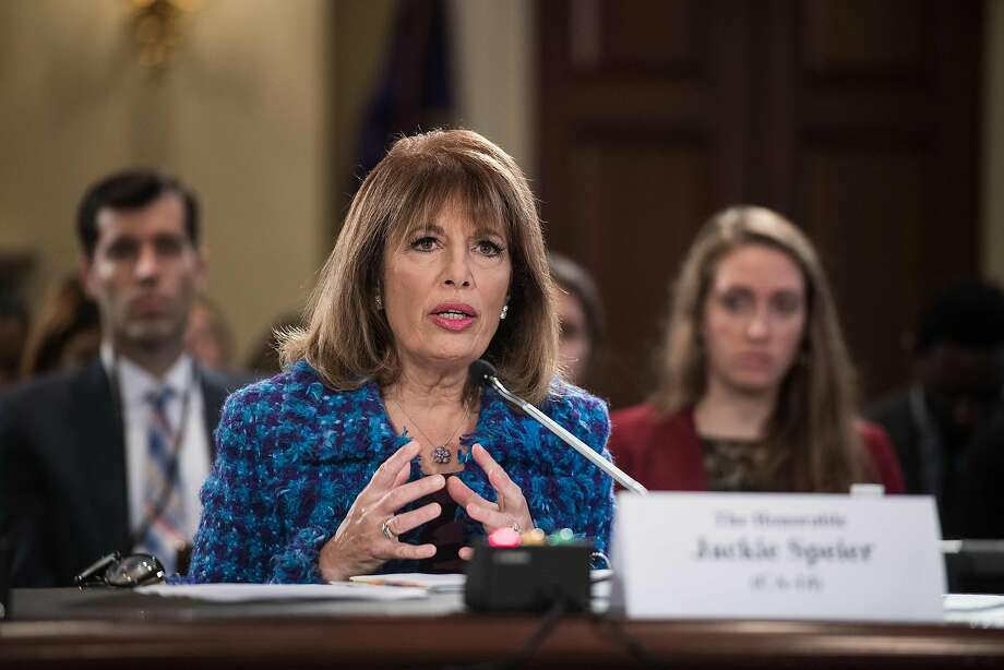 Rep. Jackie Speier, D-Hillsborough, speaks in Congress at a hearing on sexual harassment. Photo: NICHOLAS KAMM, AFP/Getty Images