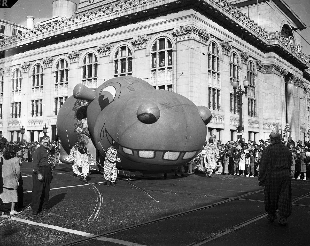 Downtown Oakland Christmas Balloon Parade December 3, 1949