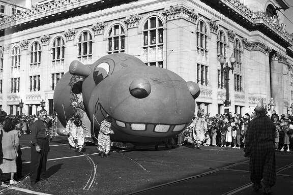 Downtown Oakland Christmas Balloon Parade December 3, 1949