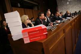 WASHINGTON, DC - NOVEMBER 14:  Members of the Senate Finance Committee participate in a markup of the Republican tax reform proposal November 14, 2017 in Washington, DC. Today, Senate Republicans announced their intention to include a repeal of the mandate for taxpayers to have health insurance in the Affordable Care Act as part of their tax reform proposal.  (Photo by Win McNamee/Getty Images)