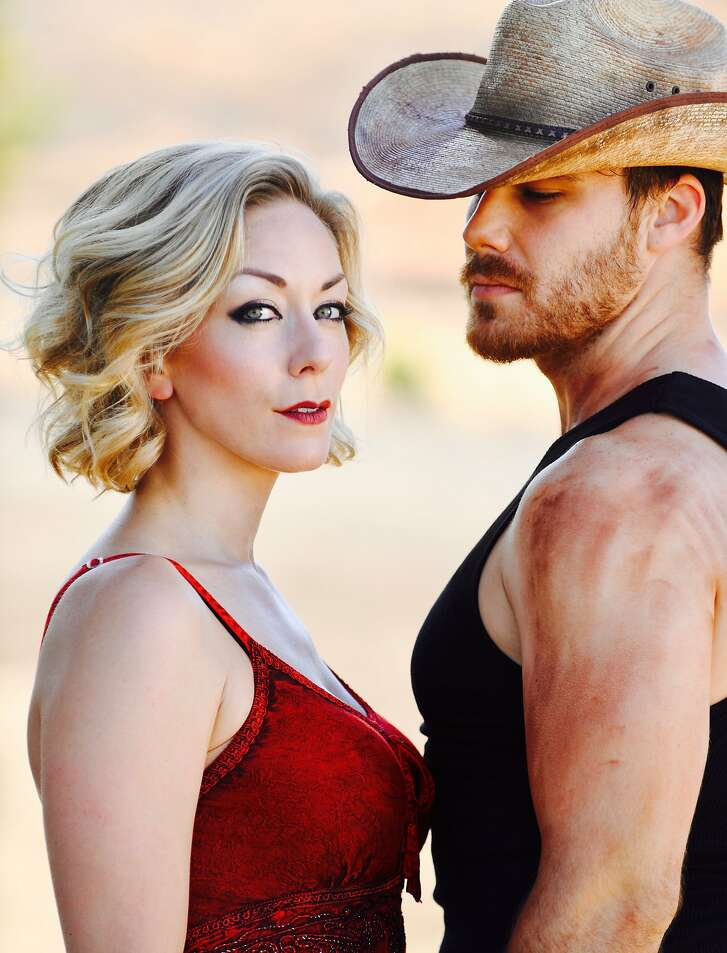 """From left: Allison F. Rich as May and Rob August as Eddie in San Jose Stage Company�s """"Fool for Love."""""""