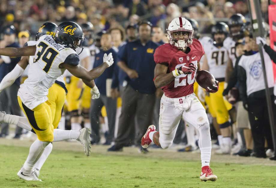 Two years ago, Stanford's Bryce Love gained 56 yards on two carries as the Cardinal beat Cal 35-22. Photo: David Madison / Getty Images / 2015 David Madison