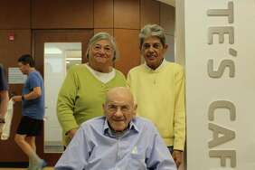 Dante Chicatell with daughters Sandra and Patricia at the New Canaan YMCA on Friday, November 10 2017 in New Canaan, CT.