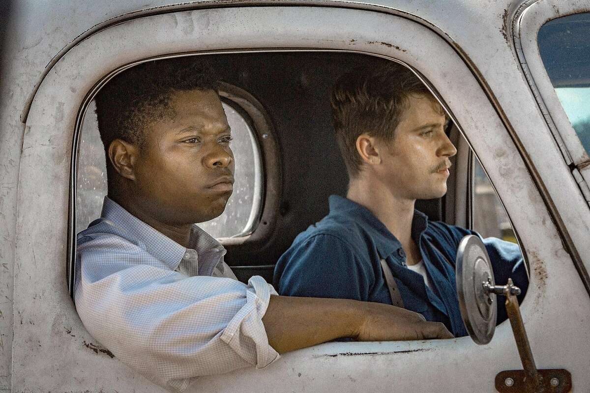 "Jason Mitchell and Garrett Hedlund star in ""Mudbound,"" which follows two World War II veterans who are met with racism upon their return to their hometown. MUST CREDIT: Steve Dietl, Netflix"