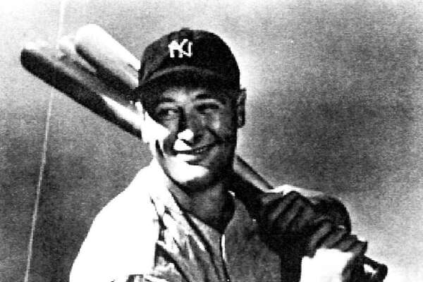 FILE -- Yankees slugger Lou Gehrig is among the athletes whose feats are chronicled in ``This Day in New York Sports'' (Sports Publishing) by Jordan Sprechman with Bill Shannon. (AP Photo/courtesy Sports Museum Press Inc.)