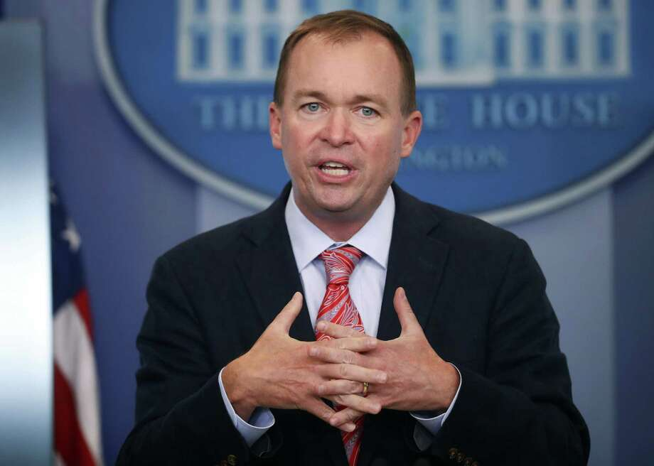 Budget Director Mick Mulvaney gestures as he speaks during the daily press briefing at the White House in Washington July 20, 2017. Photo: Pablo Martinez Monsivais / Associated Press / Copyright 2017 The Associated Press. All rights reserved.