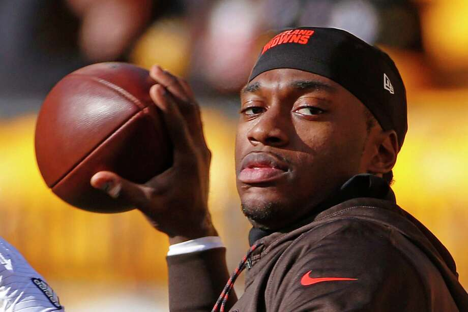 Robert Griffin III last played during the 2016 season, starting five games for the Browns. Photo: Associated Press, STF / Copyright 2017 The Associated Press. All rights reserved.
