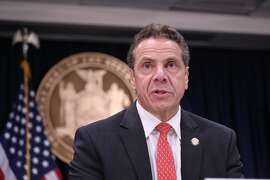 New York Gov. Andrew Cuomo at a news conference to discuss relief efforts on Puerto Rico on Thursday, Nov. 2, 2017, in New York. (Jefferson Siegel/New York Daily News/TNS)