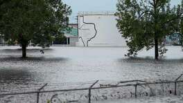 The Arkema Inc. chemical plant is flooded from Tropical Storm Harvey in Crosby. The plant, about 25 miles northeast of Houston, lost power and its backup generators amid Harvey's days-long deluge, leaving it without refrigeration for chemicals that become volatile as the temperature rises.