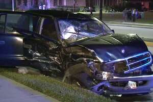 One person was killed late Tuesday after a car crash in north Houston. (Metro Video)
