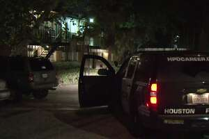 One man was injured Wednesday during gunfire at a northwest Houston apartment complex. (Metro Video)
