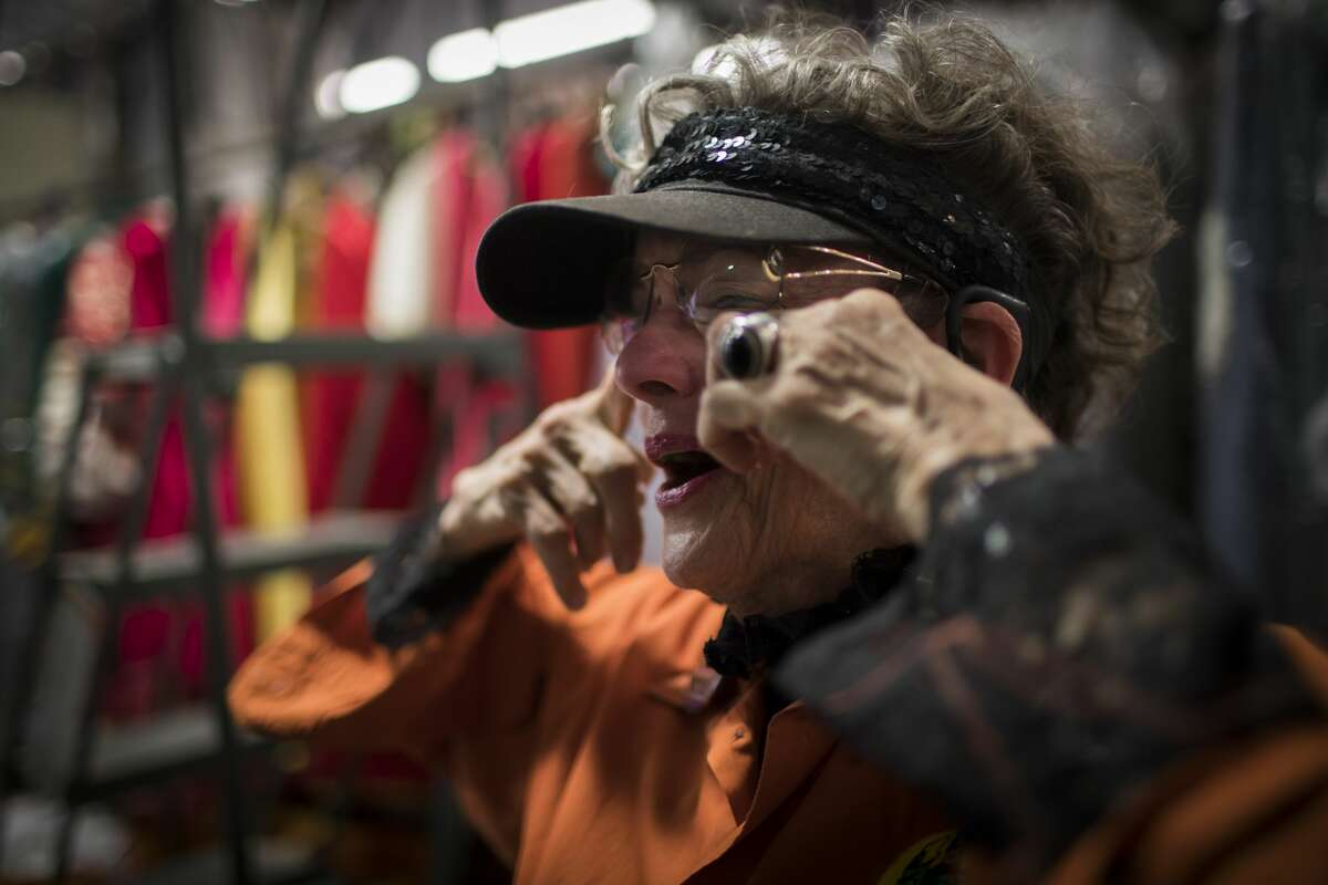 Terrie Frankel quickly dries her tears as she becomes emotional about selling Frankel?'s Costume Company, Tuesday, Nov. 14, 2017, in Houston. ( Marie D. De Jesus / Houston Chronicle )
