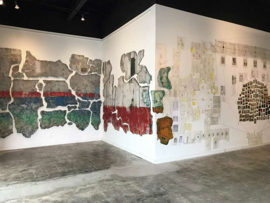 "Justin Garcia's show ""Time Machine: Through the Walls of a Time Traveler"" Photo: Molly Glentzer"