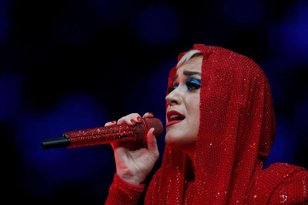 Katy Perry performs during her Witness world tour at SAP Pavilion in San Jose, Calif., Tuesday, November 14, 2017.