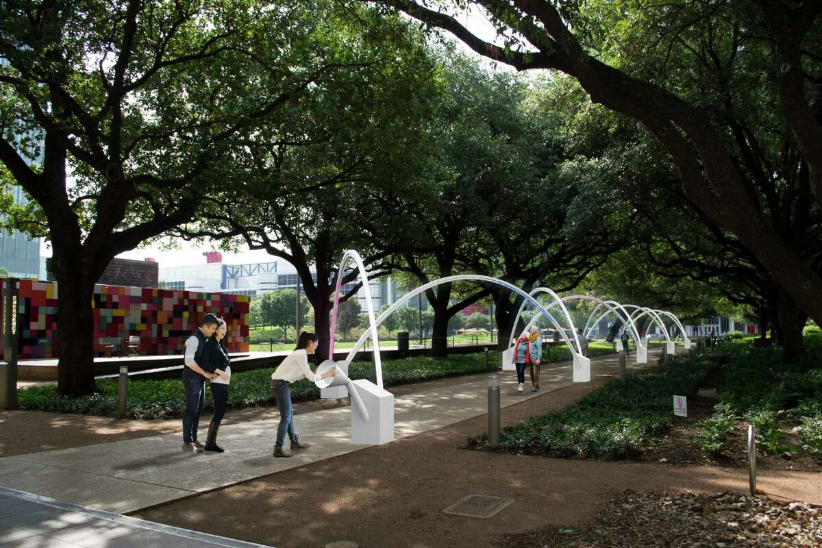 """""""Hello, Trees! A Walking Serenade,"""" by the Montreal design studio Daily tous les jours, debuts at Discovery Green's Brown Foundation Promenade during the park's annual Frostival celebrations, Nov. 18-Feb. 25"""