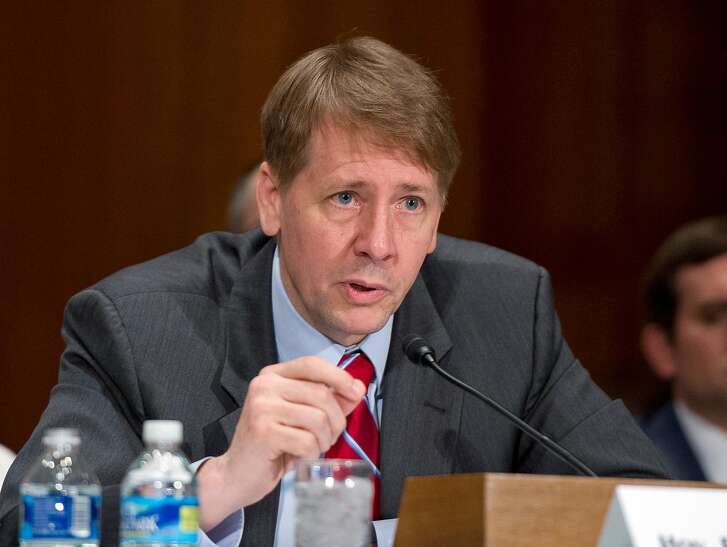Richard Cordray, director of the Consumer Financial Protection Bureau, testifies on Sept. 20, 2016 before the Senate Committee on Banking, Housing and Urban Affairs about Wells Fargo. (Ron Sachs/CNP/Sipa USA/TNS)
