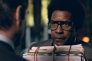 "This image released by Sony Pictures shows Denzel Washington in a scene from ""Roman J. Israel, Esq."" (Sony Pictures via AP) ORG XMIT: NYET735"