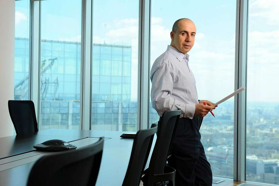 FILE -- Yuri Milner, a Russian billionaire whose holdings have included major stakes in Facebook and Twitter, in his office in Moscow, April 27, 2010. Leaked files in 2017 show that a state-controlled bank in Moscow helped to fuel Milner�s ascent in Silicon Valley, where the Russia investigation has put tech companies under scrutiny. (James Hill/The New York Times) -- NO SALES -- Photo: JAMES HILL, NYT