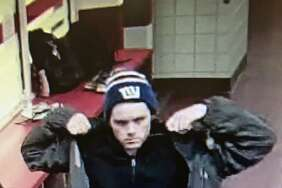 Police are looking for this man, who they suspect stole a wallet from a backpack at Sacred Heart University' Pitt Center Tuesday afternoon. Fairfield,CT. 11/15/17