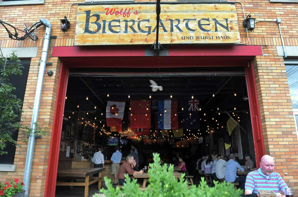 Wolff's Biergarten in Albany's warehouse district. (Michael P. Farrell/Times Union)