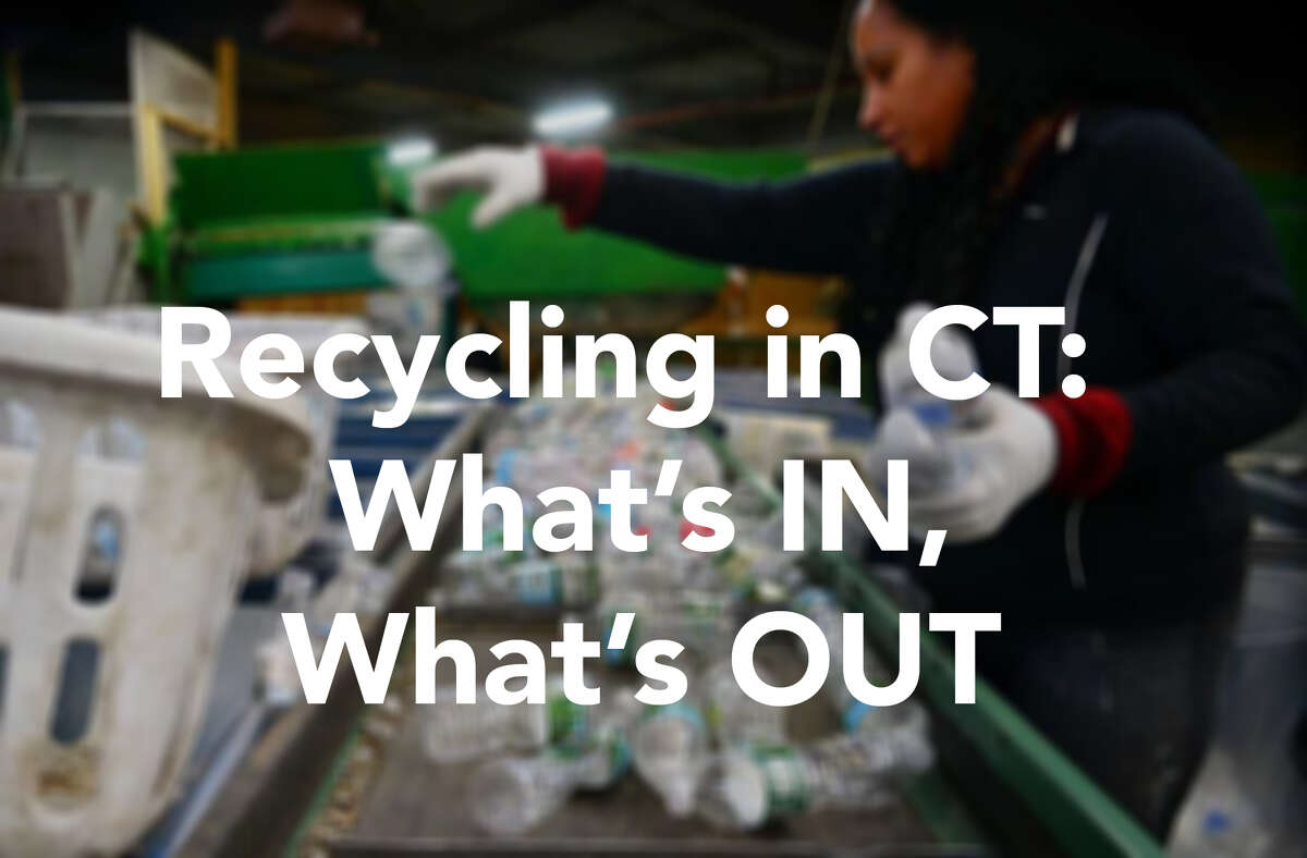 The following materials are deemed recyclable (put IN the blue bin) or not (keep OUT of the blue bin) by the Connecticut Department of Energy and Environmental Protection. Recycling rules have been standardized across the state.