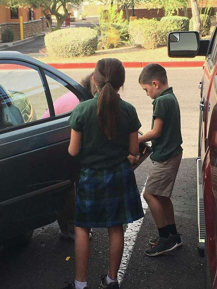 Frank Somerville shares the story of how two children learned a great lesson in good karma and paying it forward. Photo: Alejandra Maria/ Facebook