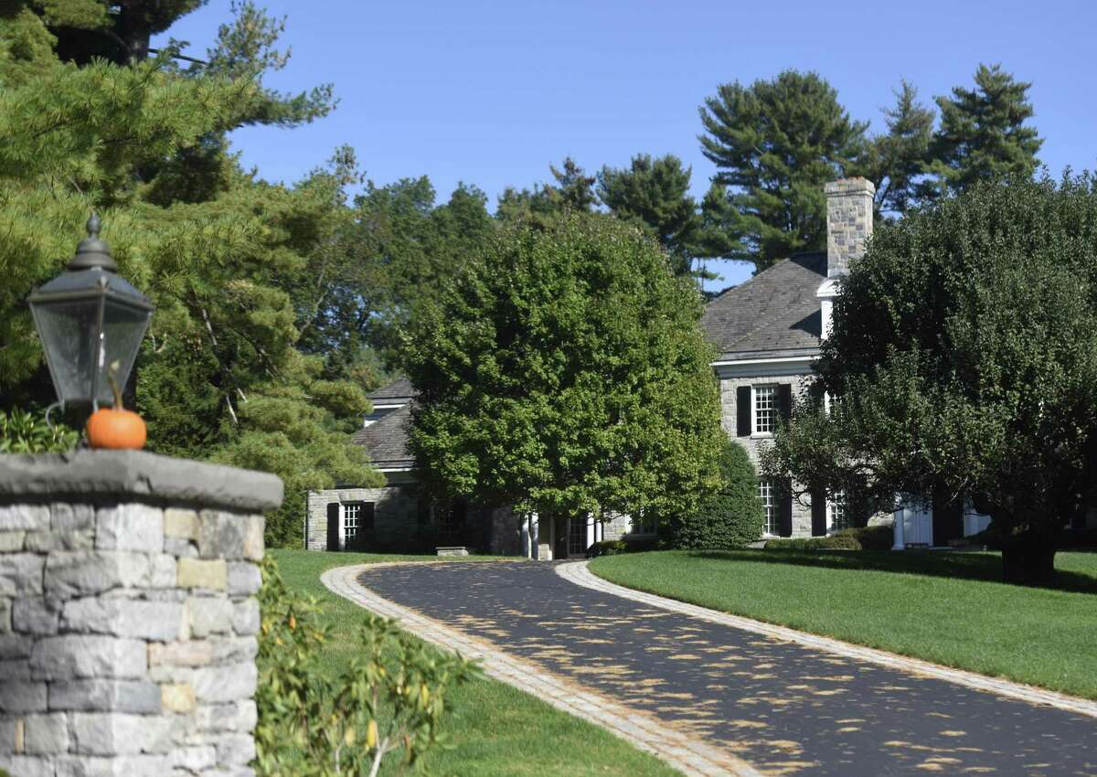 This home on Lake Ave. in Greenwich, Conn., photographed here on Thursday, Oct. 12, 2017, sold last month for $7.65 million.