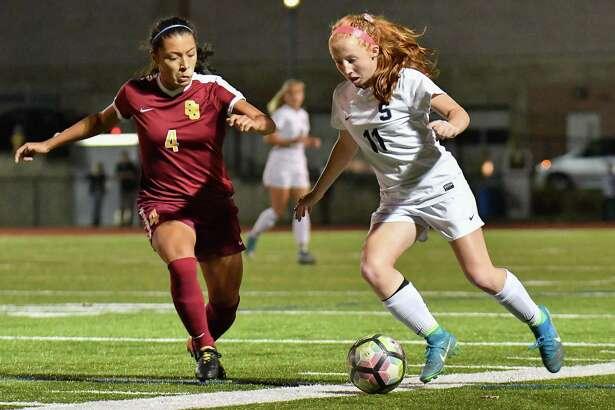 St. Joseph's Jessica Mazo (4) was the 2016 Hearst Connecticut Media's girls soccer MVP.