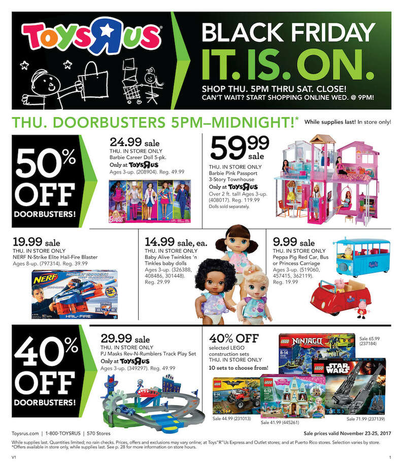 Despite a rocky year one of America's most well known toy stores, Toys 'R' Us has released 28 pages worth of Black Friday deals. Photo: Toys 'R' Us
