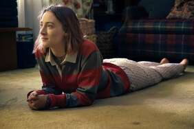 """This image released by A24 Films shows Saoirse Ronan in a scene from """"Lady Bird."""" (Merrick Morton/A24 via AP)"""