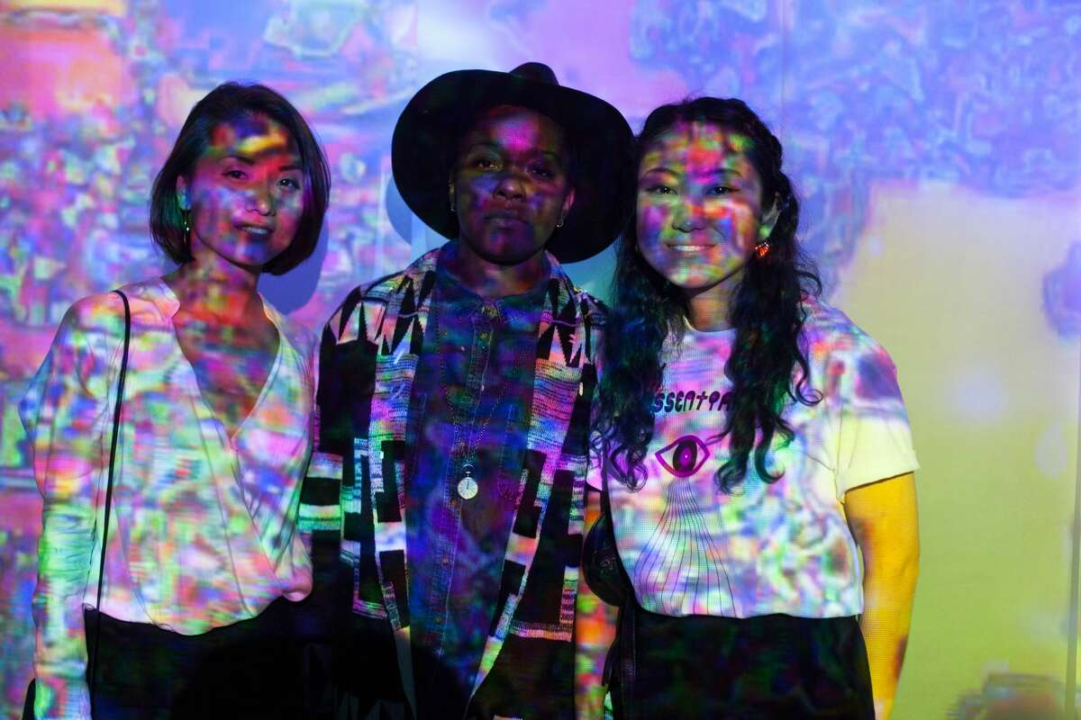 The Biochromatic exhibit by Essentials at the Diego Rivera Gallery, Instituto Cultural de Mexico wowed audiences at Luminaria Friday, Nov. 10, 2017. The colorful display combined photography, print, projection, and installation for an immersive experience.