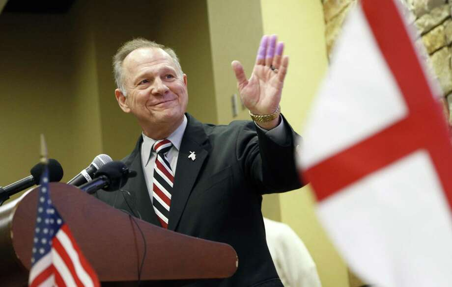 Accusers of former Alabama Chief Justice and U.S. Senate candidate Roy Moore are swaying former supporters in Congress. They can afford to throw Moore under the bus, but they won't risk losing the presidency. Photo: Hal Yeager /Associated Press / AP