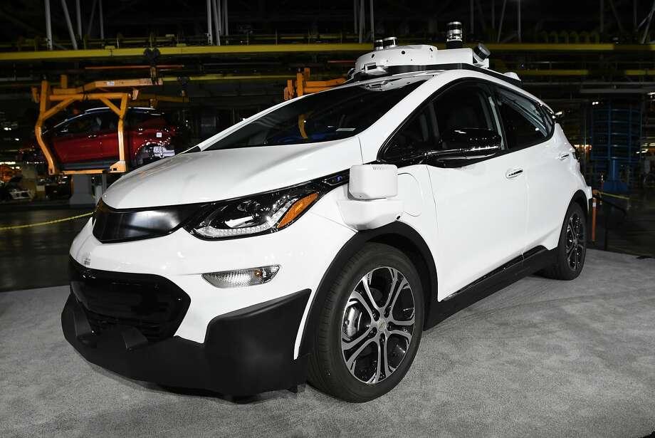 This Chevrolet Bolt EV is in General Motors' autonomous vehicle development program in Michigan. Photo: Jose Juarez, Associated Press