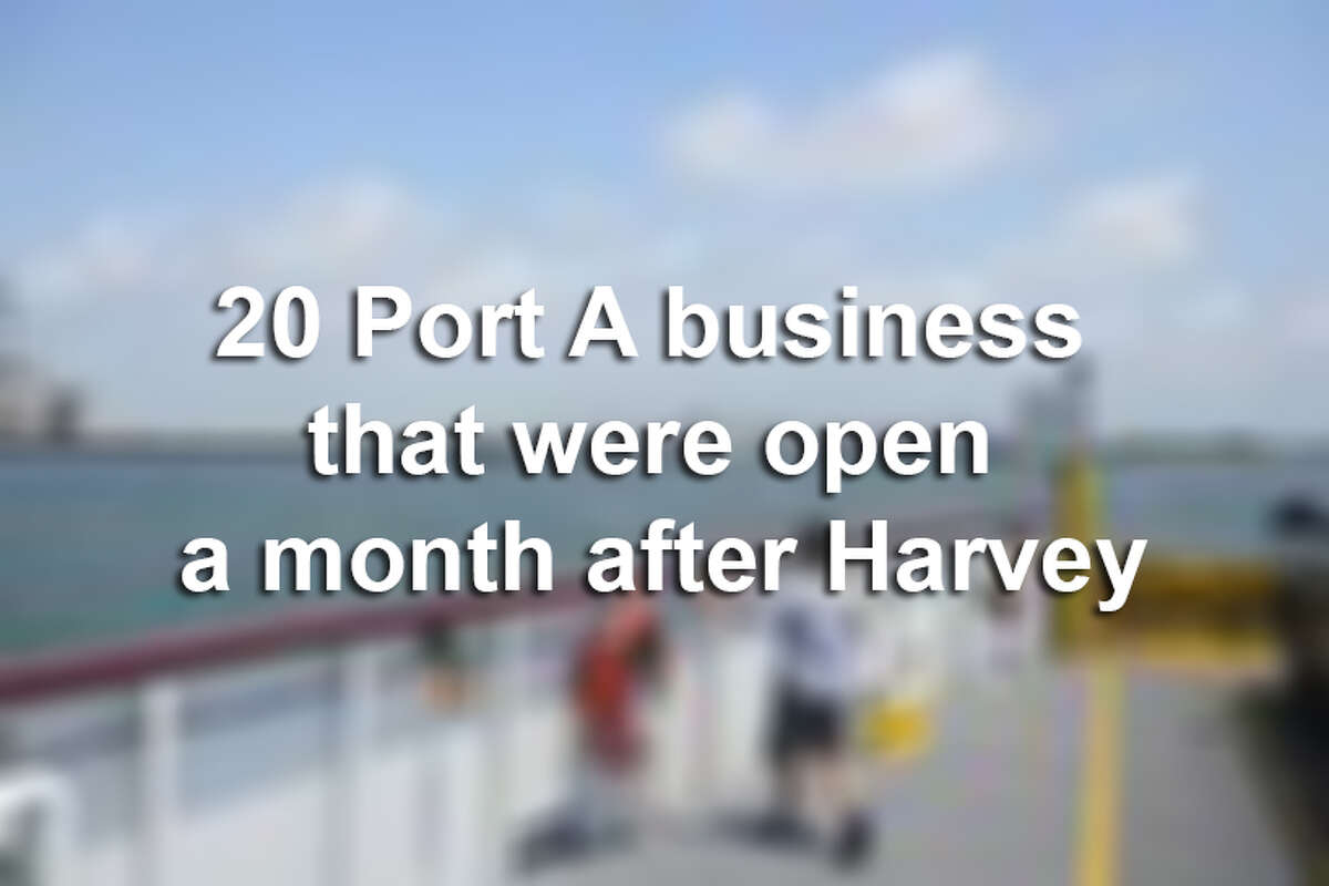 Keep clicking to see the businesses that were able to reopen after Hurricane Harvey hit the Texas coast Aug. 25, 2017.